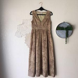 Sundance tropical palm print sleeveless maxi dress